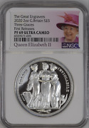 2020 Royal Mint Three Graces Silver Proof Two Ounce 2oz Ngc Pf69 Ucam First Rele