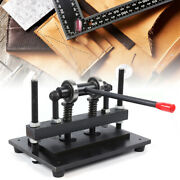 Manual Leather Cutting Machine Die Cut And Leather Embossing Machine Fits Tailor