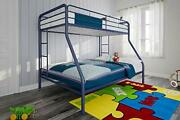 Dhp Twin-over-full Bunk Bed With Metal Frame And Ladder, Space-saving Design, Bl
