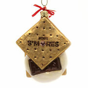 Holiday Ornaments Hershey's Smores Glass Ornament Chocolate Campfire Hy0481