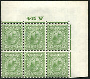 9d Sg 427wi And039wmk.invand039 Control And039a24and039 Corner Block Of Six U/m Pristine Fresh And039p