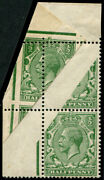 Andfrac12d Sg 351 Spectacular And039paper-foldand039 Variety On Top L/h Corner Vertical Pair U/m