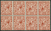 1andfrac12d Sg 420a And039tete-becheand039 In Block Of Eight All U/m Two And039tete-becheand039 Pairs. P