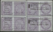 Postage Fiscal 1867 And039samuel Allsopp And Sonsand039 Ovpt Labels In U/m Pane Of Eight.