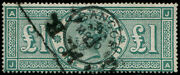 Andpound1 Green Sg 212 Fu And039bangor.1897and039 Cds And Box Cancel Fresh And Strong Colour.