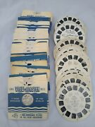 Lot Of 100 Vintage Viewmaster Reels Disney, Knott's Berry, Baseball And Many More