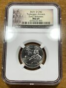 2021-d 25c Tuskegee Airmen Quarter Ngc Ms69 Early Releases