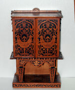 18th C. Antique French Miniature Marquetry Furniture