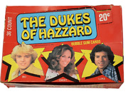 Vintage 1980 Donruss Dukes Of Hazzard Cards Unopened 36 Pack Wax Box