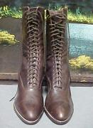 Vintage Authentic Antique 1900-1919 Sweet Sally Lunn Lace-up Boots Womenand039s