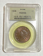 Large Cents Coronet Head 1820 P Pcgs Ms-65 Rb Large Date