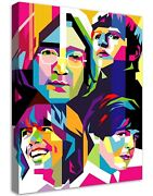 Beatles Buildable Canvas Frame Canvas Picture Print Wall Art Home Decor New