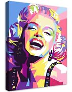 Marilyn Monroe 2 Buildable Canvas Frame Canvas Picture Print Wall Art Home Deco