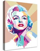 Marilyn Monroe 6 Buildable Canvas Frame Canvas Picture Print Wall Art Home Deco