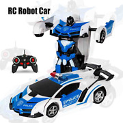 Rc Robot Car Transformation Sports Vehicle Model Robots Toys Cool Deformations