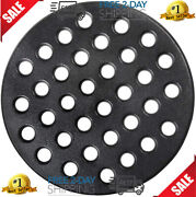 Round Cast Iron Grate Bbq High Heat Charcoal Plate Fit Large Big Green Egg Fire