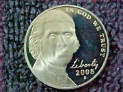 2008 S Proof Jefferson Nickels From Proof Sets