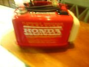 Vtg Honda 3.4 Gal Outboard Boat Motor Gas Tank W/fuel Line And Gaugeextras Minty