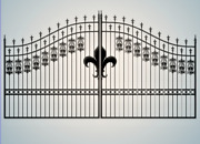 Wrought Iron Style Steel / Iron Driveway Gate 16and039 Wide Yard Home Security