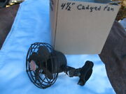1930and039s 4 1/2 Inch Marvel Script Caged Cooling Fan Plymouth Dodge Ford Chevrolet