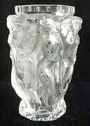 Beautiful Art Deco Bohemian Nude Frosted Glass Vase Les Bacchantes - Muses