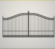 Wrought Iron Style Steel / Iron Driveway Gate 14' Wide Yard Home Security