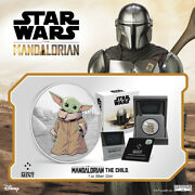 2021 Niue Star Wars Mandalorian The Child Baby Yoda 1 Oz Silver Coin - Sold Out