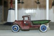 Early 1900s Vintage Arcade Cast Iron Ford Model Aa Dump Truck Toy 220