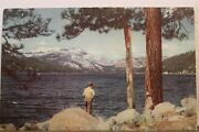 California Ca Donner Lake Truckee Union Oil 76 Gas Postcard Old Vintage Card Pc