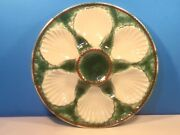 French Majolica Oyster Plate Shells And Basketweave