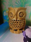 Japanese Traditional Owl Wood Carving