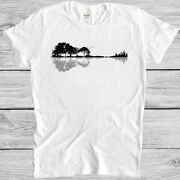 Guitar Tree T Shirt Nature Forest Climate Change Music Vintage Gift Tee
