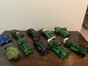 Lot Of 10 Vintage Avon Cologne And After Shave Decanter Bottles Cars Automobiles