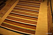 6and039 X 9and039 Hand Woven Stripe Southwestern Style Handmade Kilim