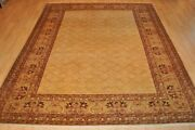 8and039 X 10and039 Handmade Vegetable Dye Oushak Rug Hand Knotted Khotan Oriental Rug