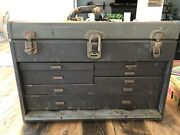 Vintage Machinist Tool Chest Box 7 Drawers Watchmaker Metal