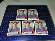 Leo Messi Rookie Rc Champions Of Europe 1955-2005 Panini 5 Stickers From Photo