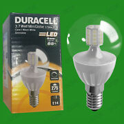 12x 3.7w Dimmable Duracell Led Clear Mini Globe Instant On Light Bulb Ses E14