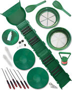 24 Piece Gold Panning Supply Kit And Sluice Box With Speed Feed Flare  