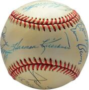 500 Home Run Club Signed Vintage Toned Baseball With 11 Sigs - Psa V14222