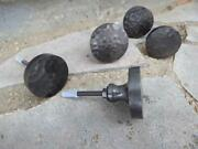 Round Antique Drawer Pulls Handles Hammered Metal Cabinet Knobs A Lot Of 2