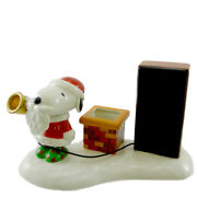 Dept 56 Accessories Give Loudly Ceramic Explore A New World Snoopy 800076