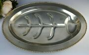 Msc Fpns Quadruple Silverplate Footed Meat Platter With Well 16