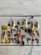 Vtg Fishing Lure Lot Buck Tail Spinners Rooster Tail Mepps Abu Cp Paul Bunyan