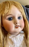 """Antique 18"""" French Sfbj 60 Doll On Original Body W/hh Wig Great Outfit"""