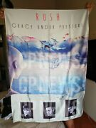 Rush Grace Under Pressure Flag Poster Band Tapestry Banner Cd Pink Bluray Lp