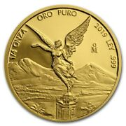 2019 Libertad Mexican 1/4 Oz Proof Gold Coin W/capsule Mintage Of 800 Coins Onza