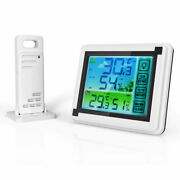 Wireless Digital Lcd Weather Station Indoor And Outdoor Thermometer Hygrometer Usa