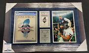 Mike Ditka Signed And Framed Super Bowl Xx Bears Program And Ticket Piece 33x21 828