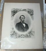 J. C. Buttre 1864/5 Print Of Abraham Lincoln Noting Assignation In Caption